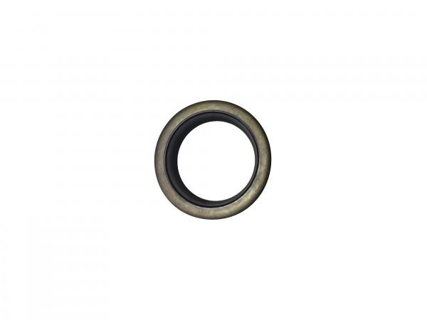 Abstreifer mit Metallkäfig 32x45x7/10