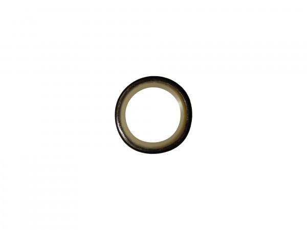 Abstreifer mit Metallkäfig 25x35x7/10